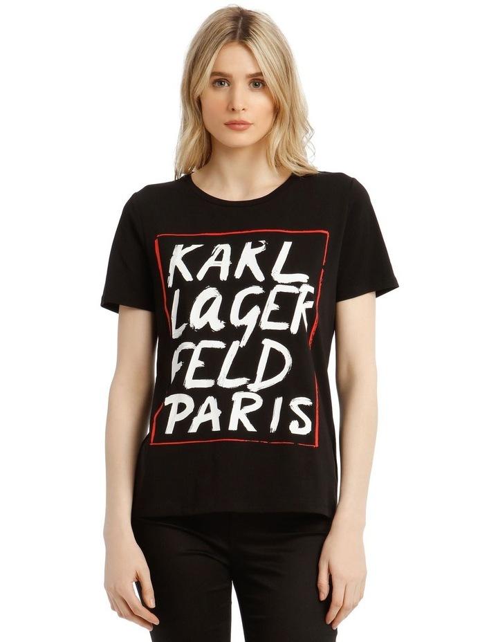 Karl Logo Painted T-Shirt image 1