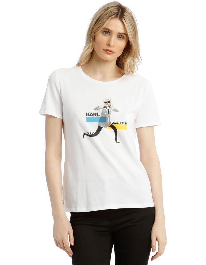 Karl with Camera Printed T-Shirt image 1