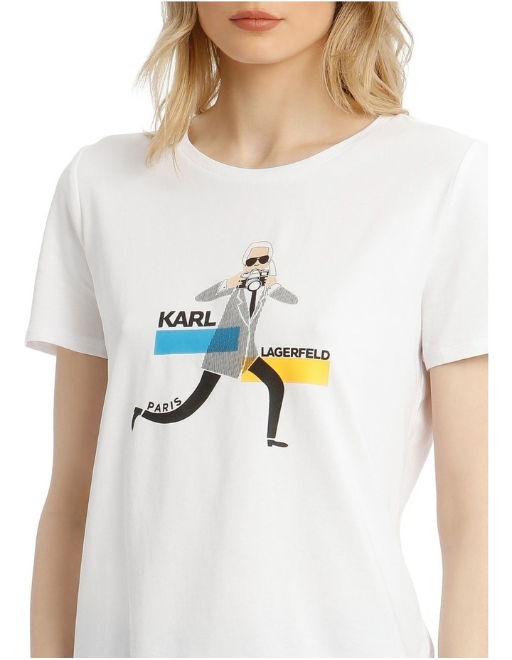 Karl with Camera Printed T-Shirt image 4