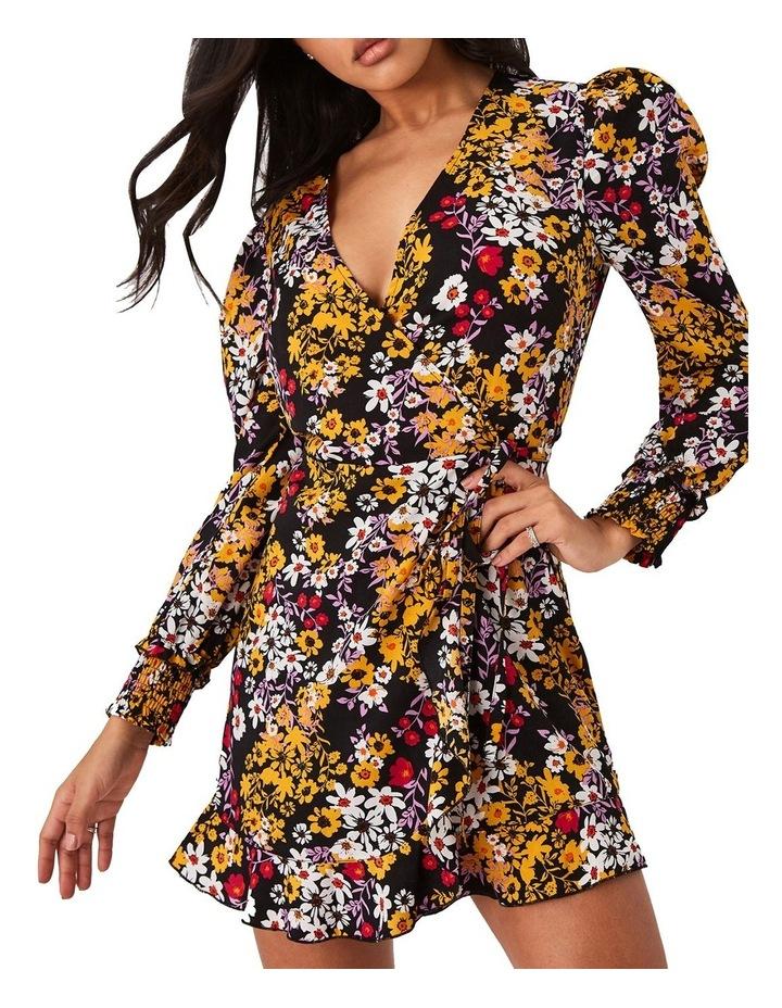 Floral-Print Mini Wrap Dress image 1