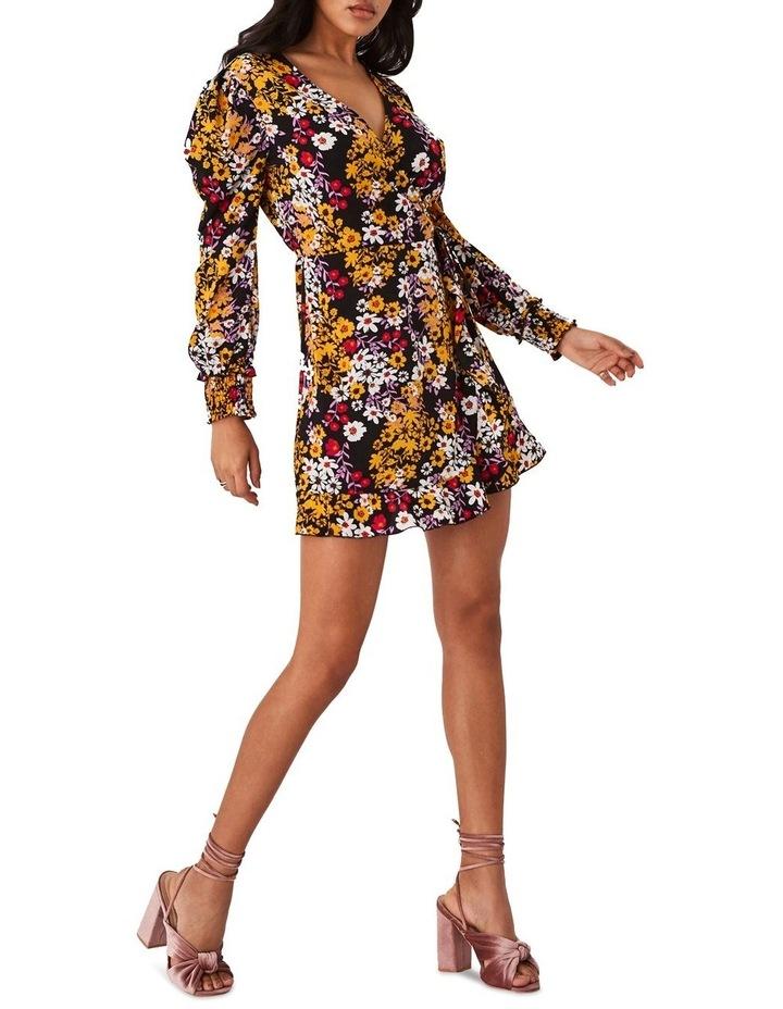 Floral-Print Mini Wrap Dress image 3
