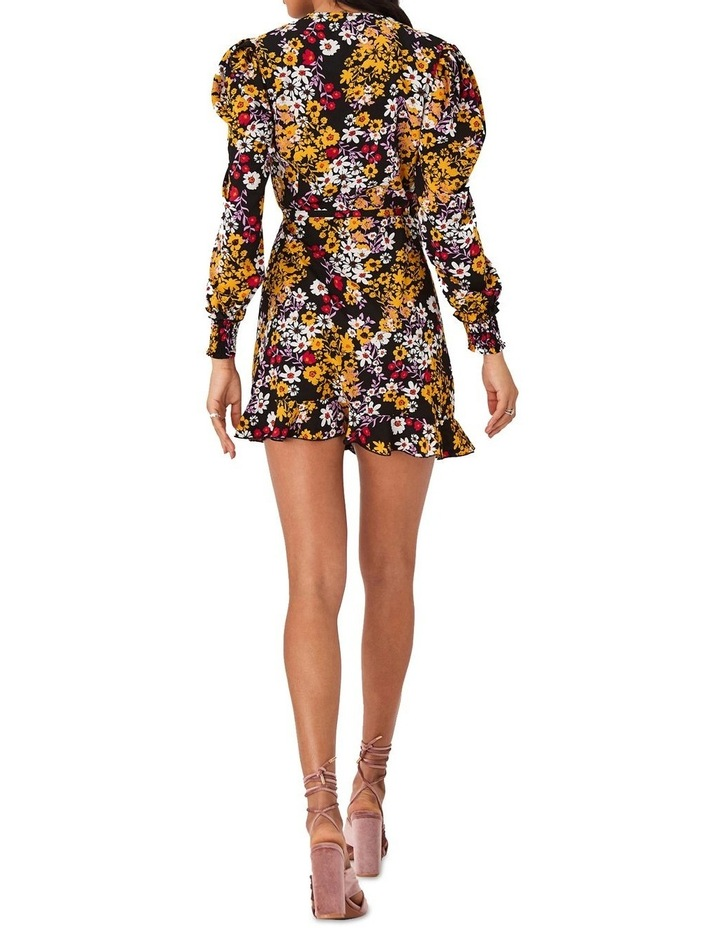 Floral-Print Mini Wrap Dress image 4
