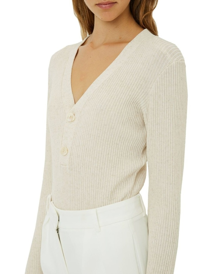 Carolina Buttoned Knit Top image 4