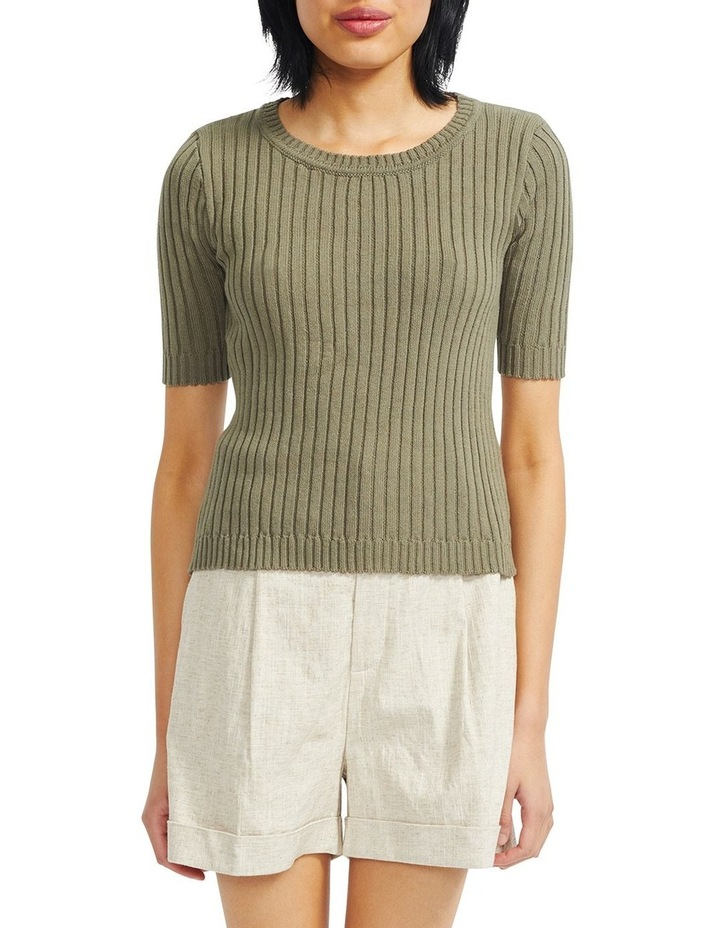 Cresent Ribbed Knit Tee image 1