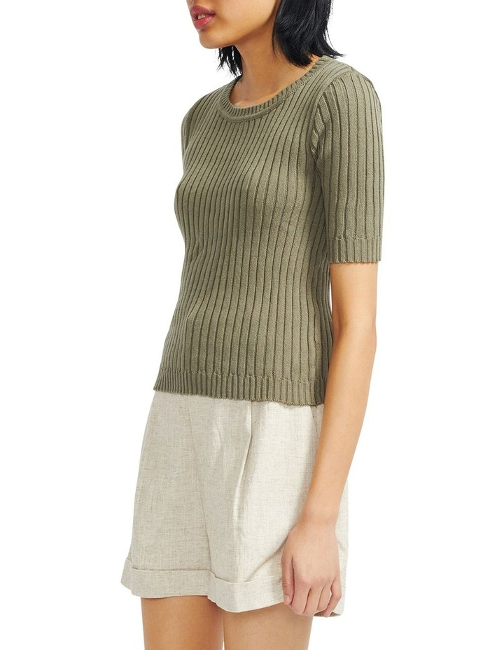 Cresent Ribbed Knit Tee image 2