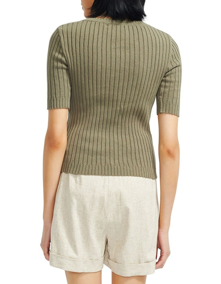 Cresent Ribbed Knit Tee image 3