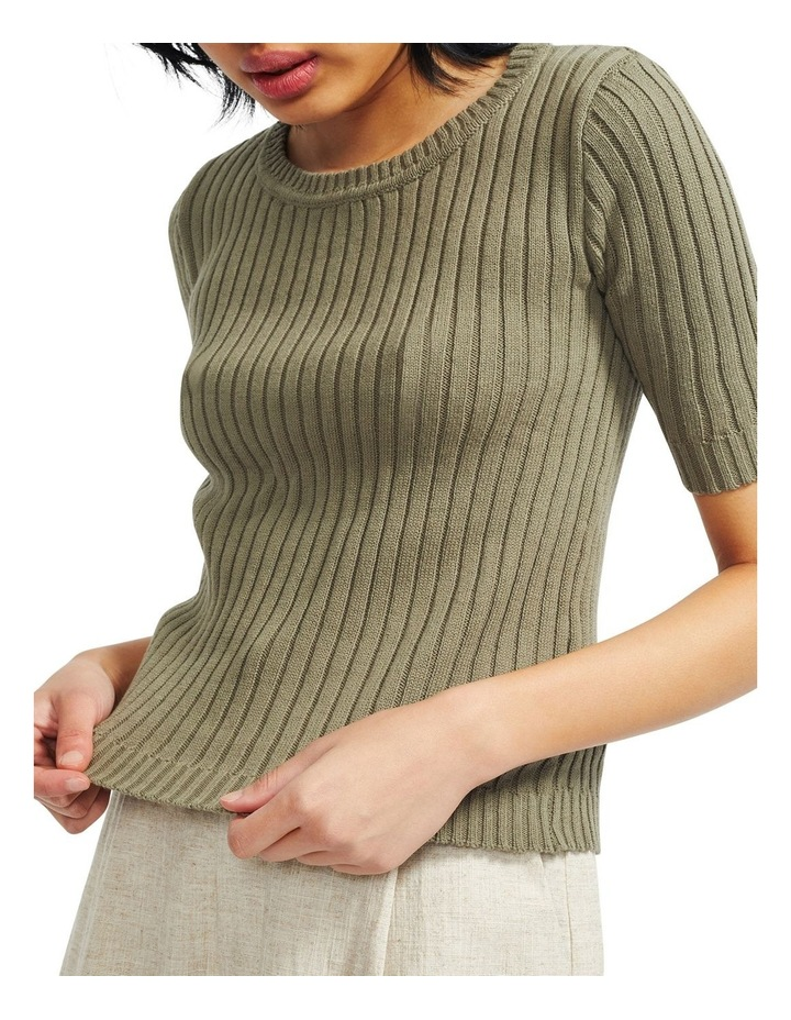 Cresent Ribbed Knit Tee image 4