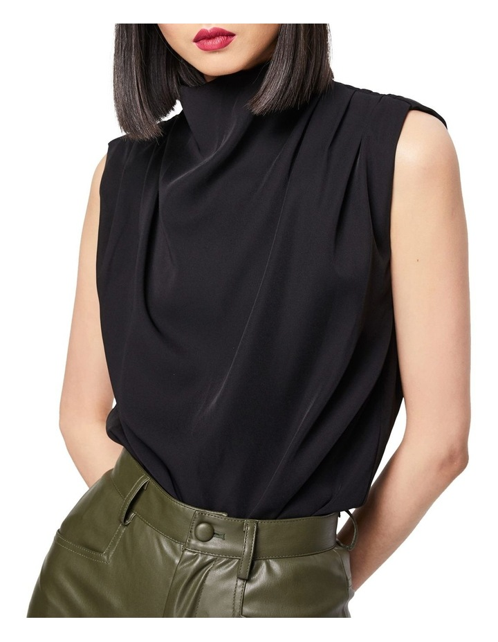 The Dare To Dream High Neck Sleeveless Top Black image 1
