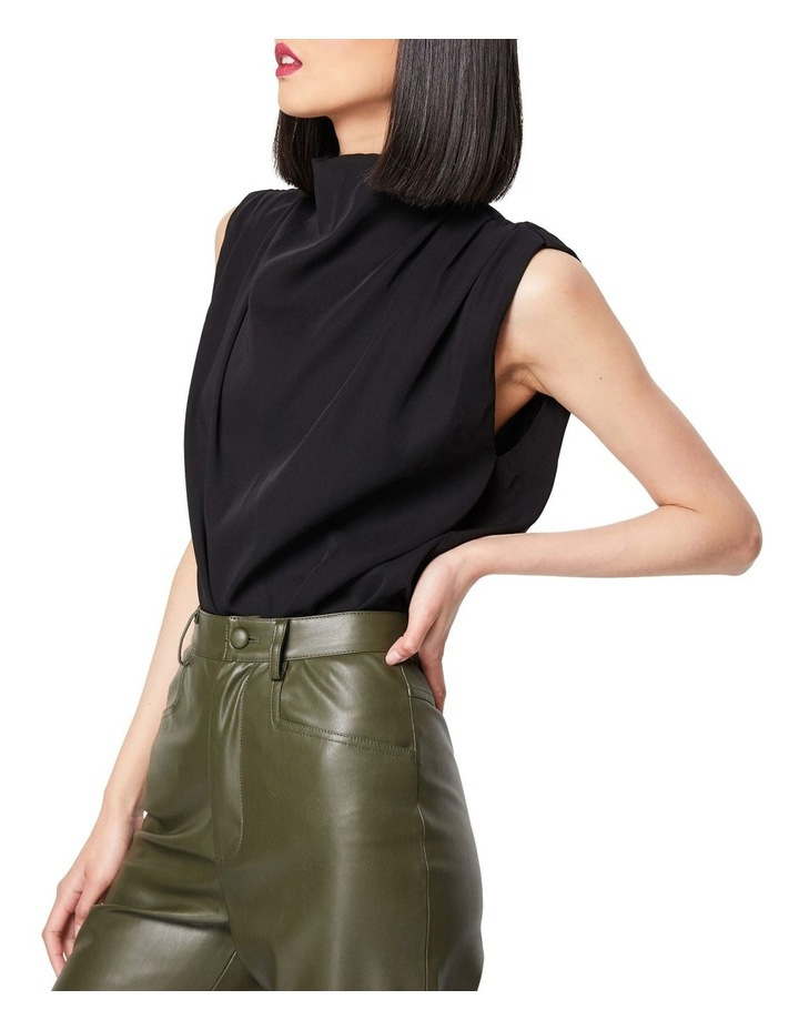 The Dare To Dream High Neck Sleeveless Top Black image 2
