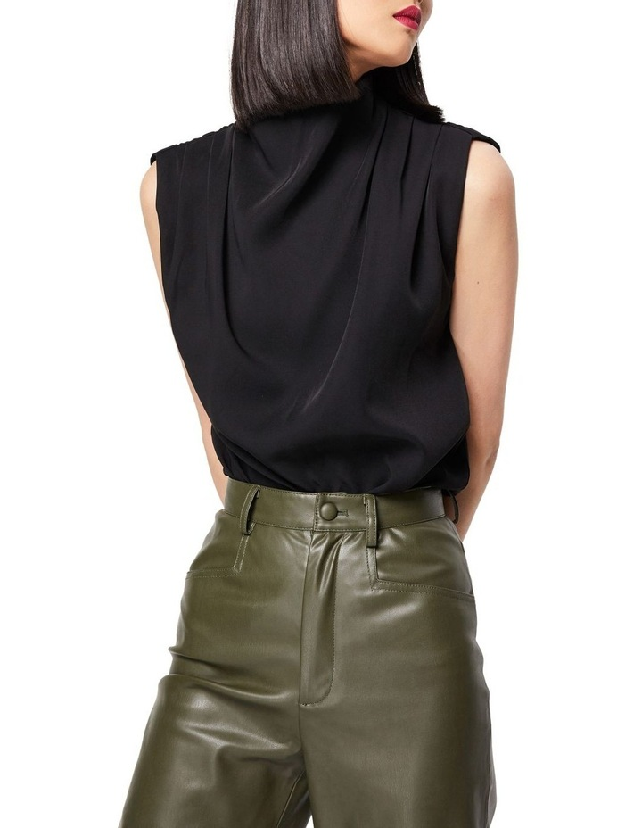 The Dare To Dream High Neck Sleeveless Top Black image 3
