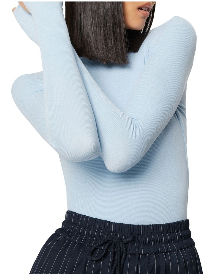 The Brooklyn Long Sleeve Top Baby Blue image 4