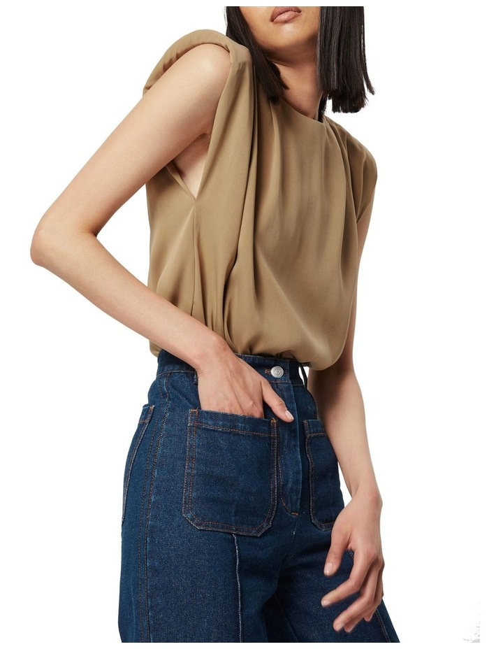 The All Night Long Sleeveless Top Camel image 1