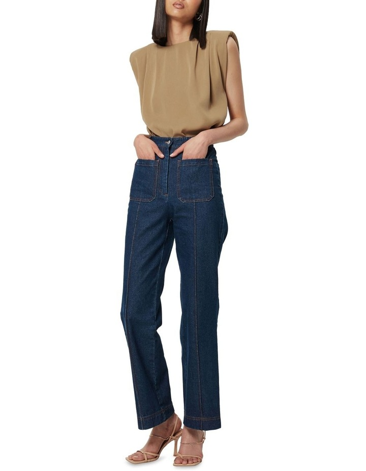 The All Night Long Sleeveless Top Camel image 3