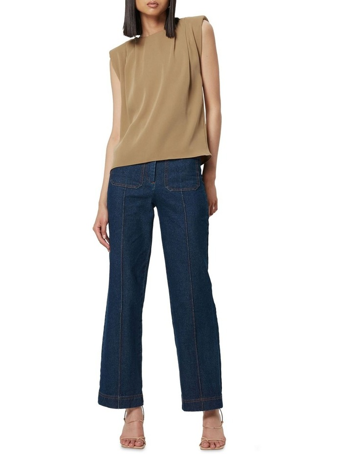 The All Night Long Sleeveless Top Camel image 4