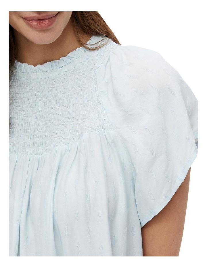 Leah Frilled Neckline Top Pale Blue image 4