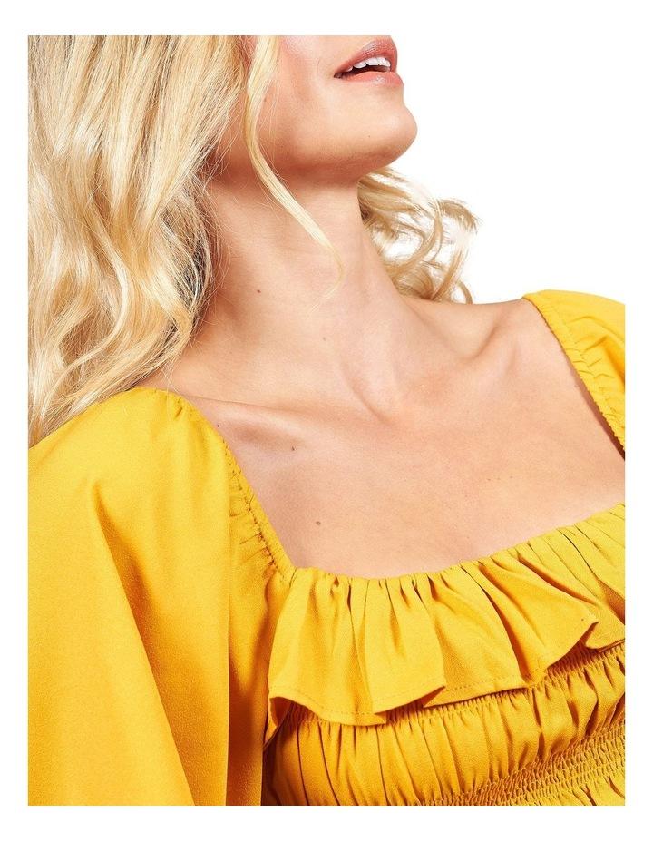 Marigold Sheered Body Angel Sleeve Top image 3