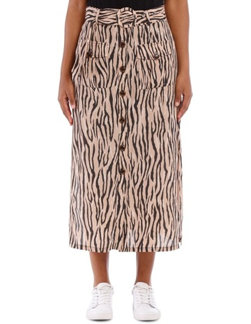 ddd93b723025 Staple The Label Savannah Belted Midi Skirt