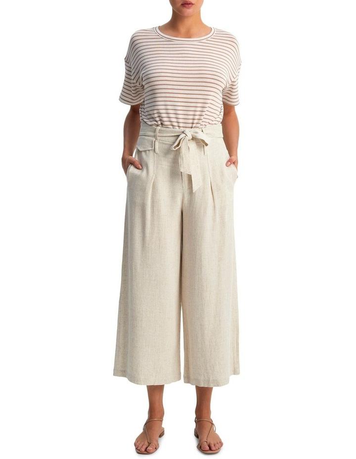 Raffia Belted Crop Pants image 1