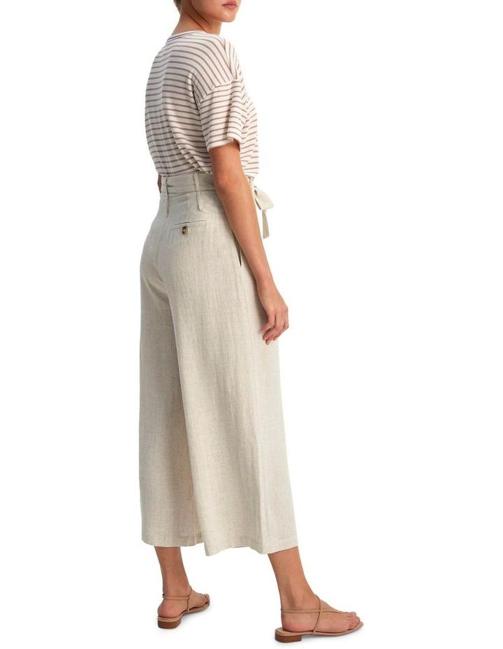 Raffia Belted Crop Pants image 2