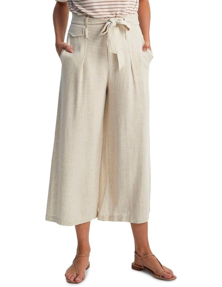 Raffia Belted Crop Pants image 3