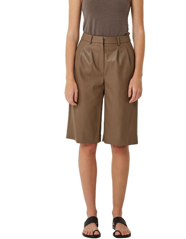 Alex Vegan Leather Shorts image 1