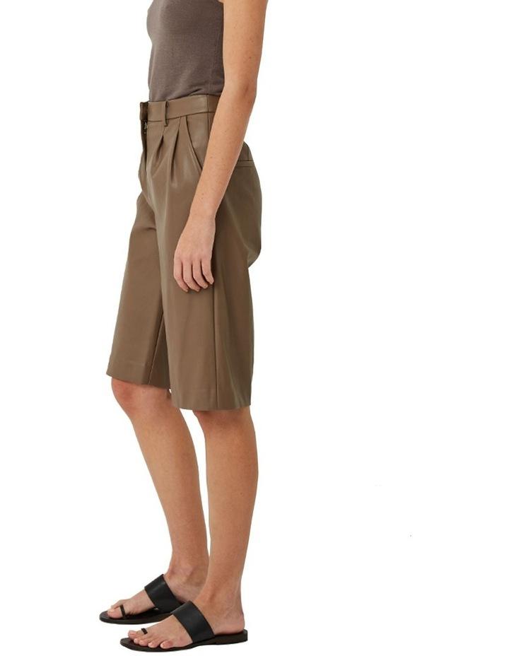 Alex Vegan Leather Shorts image 2