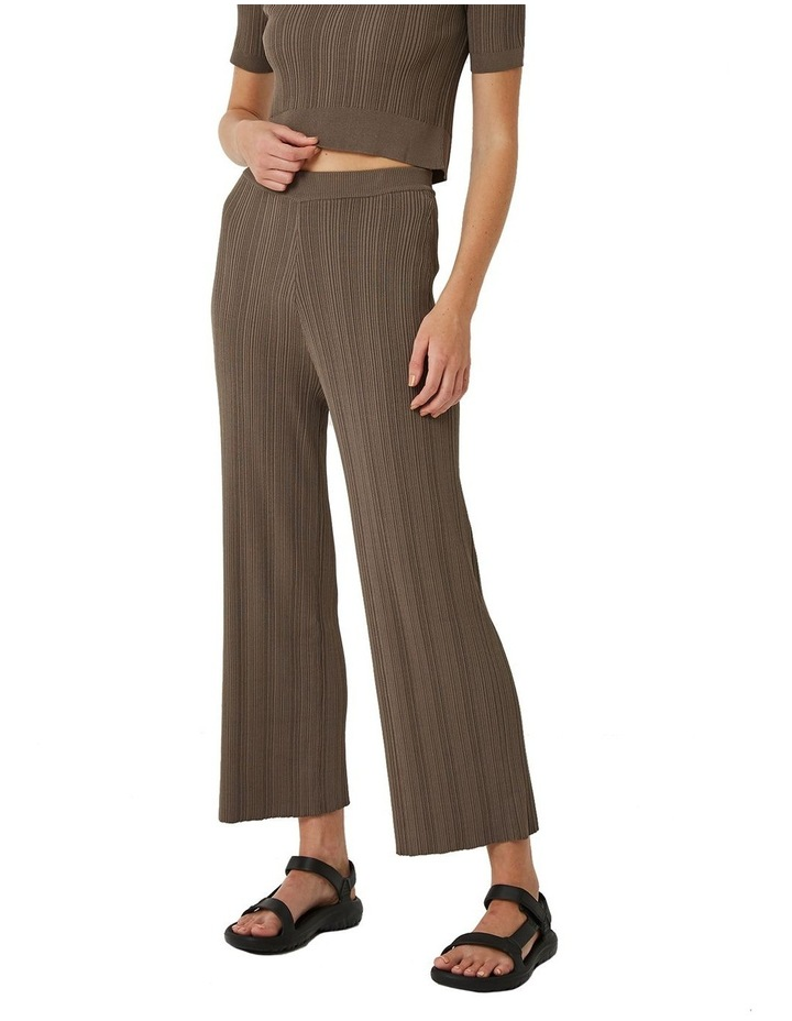 Maxine Ribbed Stretch-Knit Pants image 1