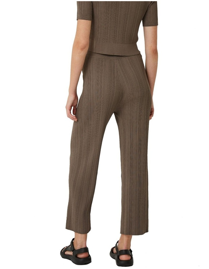 Maxine Ribbed Stretch-Knit Pants image 2