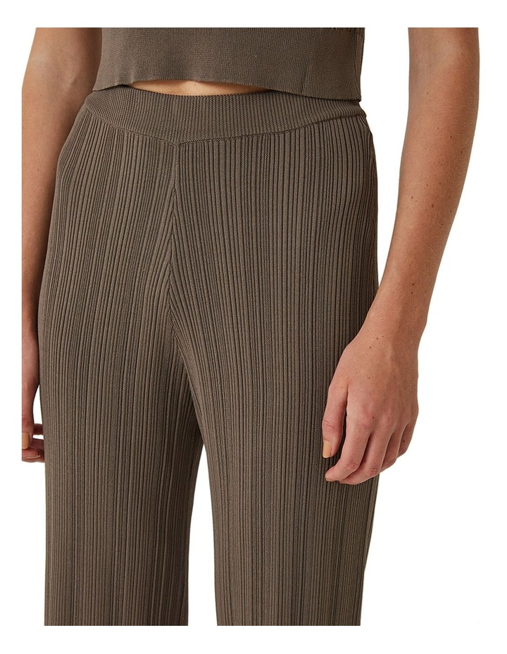 Maxine Ribbed Stretch-Knit Pants image 3