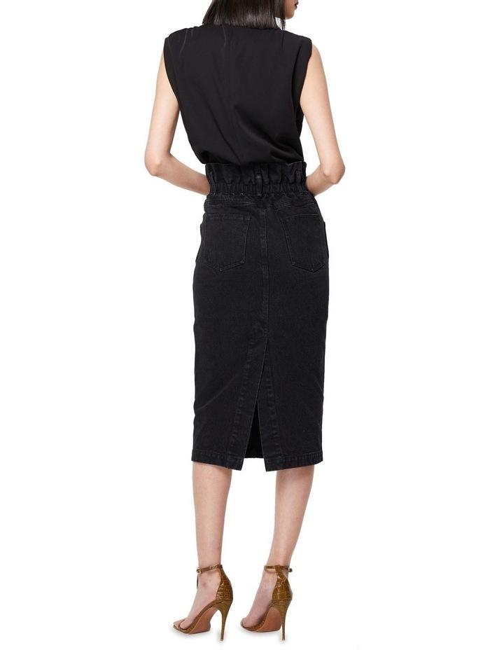 The Solitary Black Denim Midi Skirt image 5