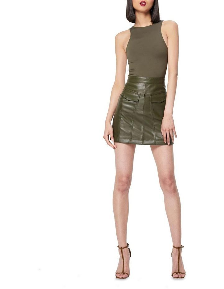 The Infinite Khaki A-Line Mini Skirt image 1