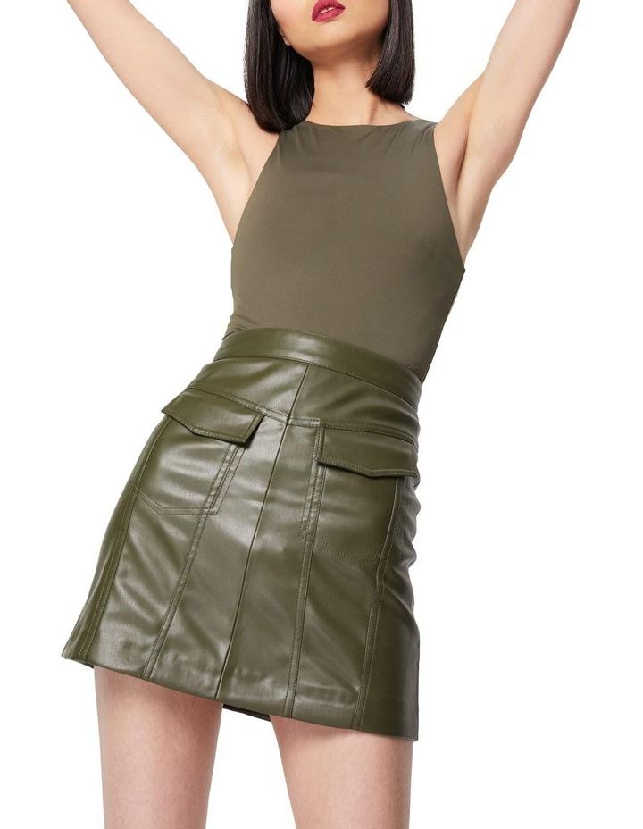 The Infinite Khaki A-Line Mini Skirt image 3