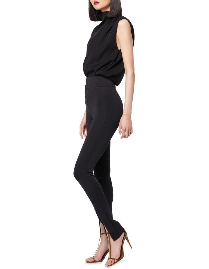 The Defensive Black High Waisted Split Hem Pants image 2