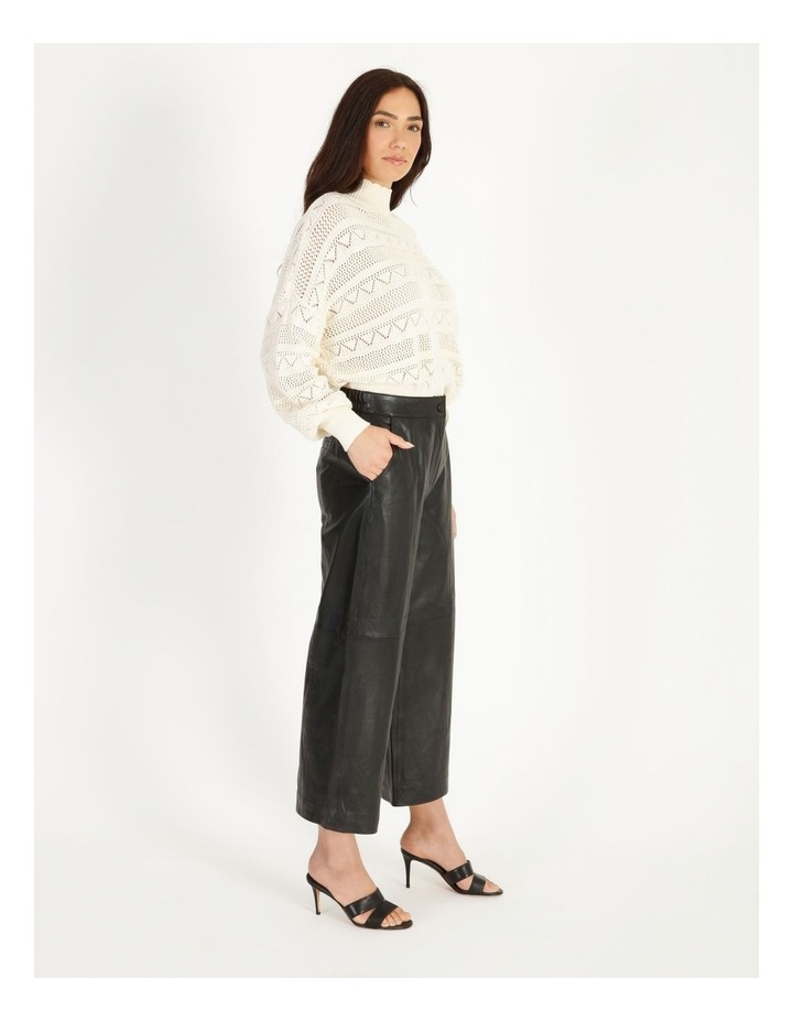 Rio Cropped Leather Pant image 2