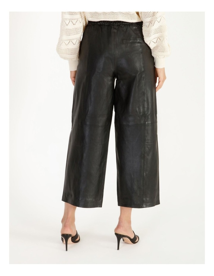 Rio Cropped Leather Pant image 3