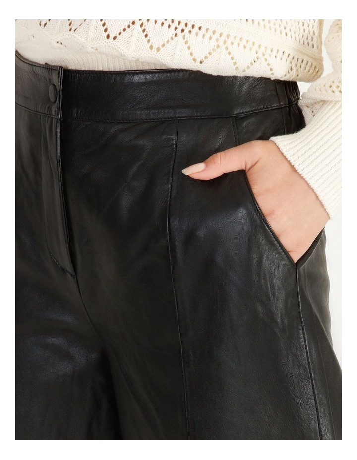 Rio Cropped Leather Pant image 4