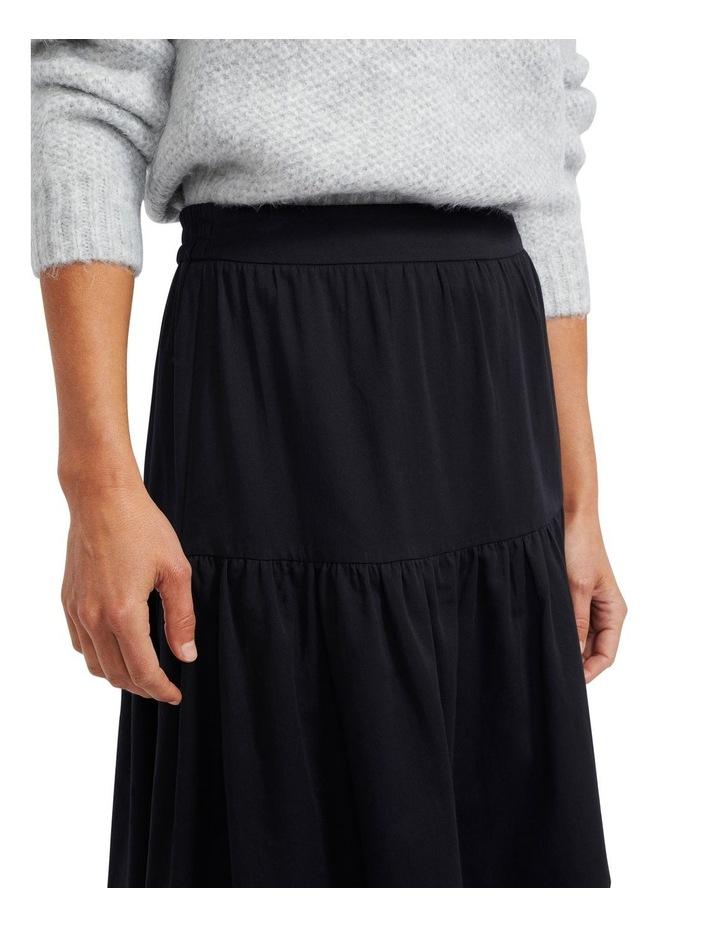 Zaria Ruffled Midi Skirt image 4