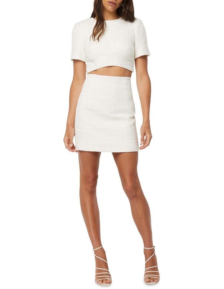 Take The Lead Ivory Tweed A-Line Mini Skirt image 2