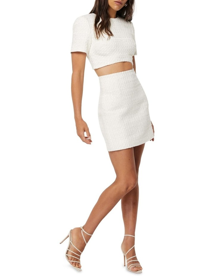 Take The Lead Ivory Tweed A-Line Mini Skirt image 3