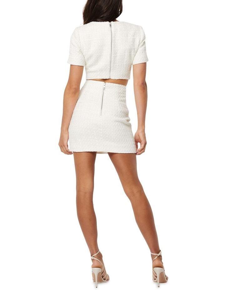 Take The Lead Ivory Tweed A-Line Mini Skirt image 4