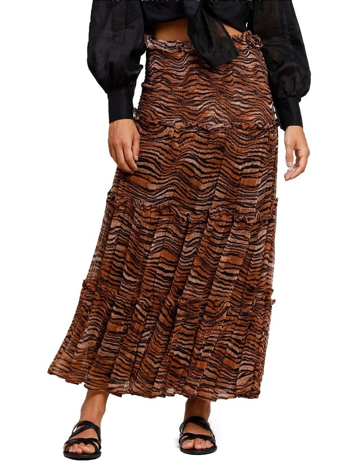 Tigress Smocked Maxi Skirt image 1