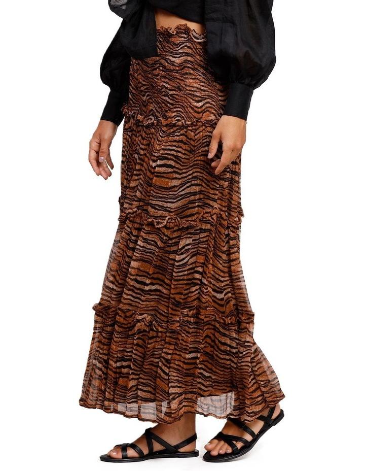 Tigress Smocked Maxi Skirt image 2