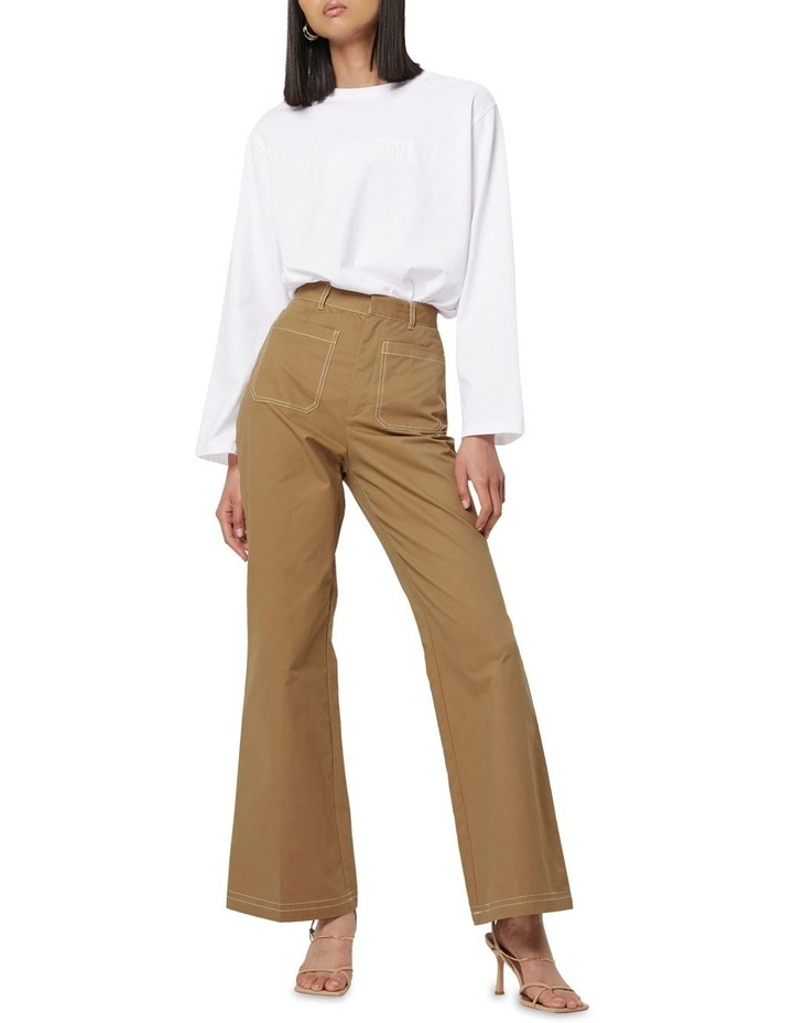 All Eyes On You Camel Flare Pants image 1