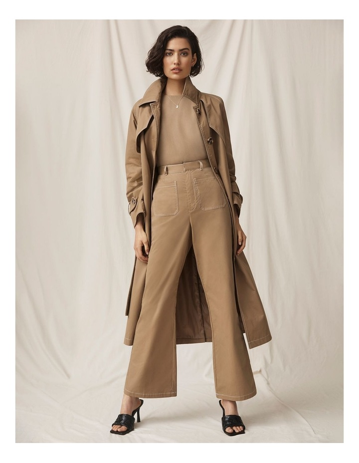 All Eyes On You Camel Flare Pants image 2