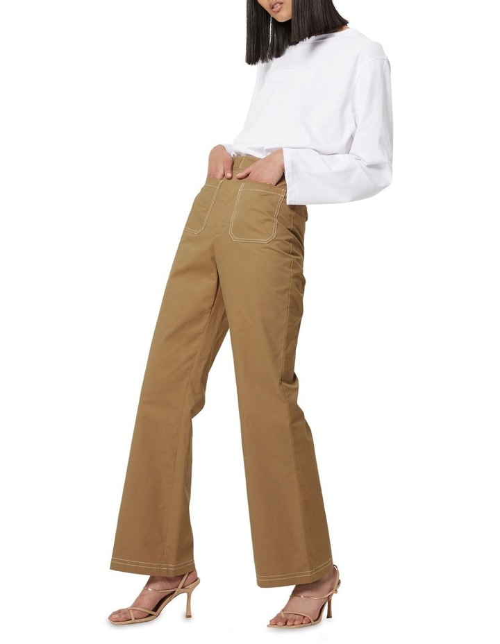 All Eyes On You Camel Flare Pants image 3