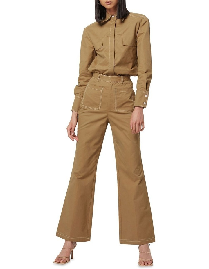 All Eyes On You Camel Flare Pants image 5