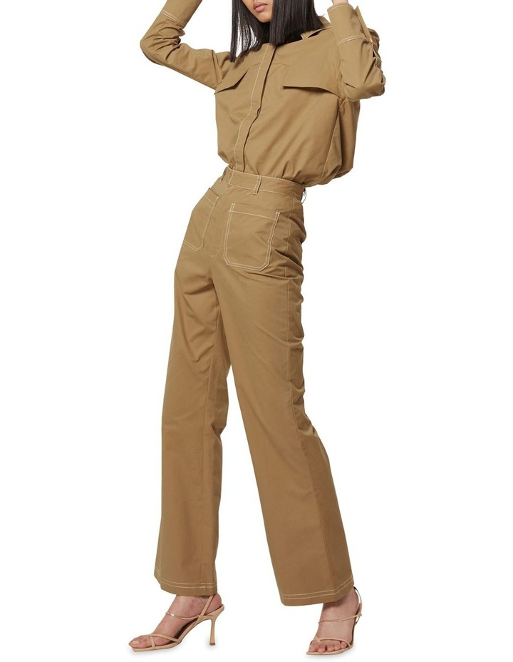 All Eyes On You Camel Flare Pants image 6
