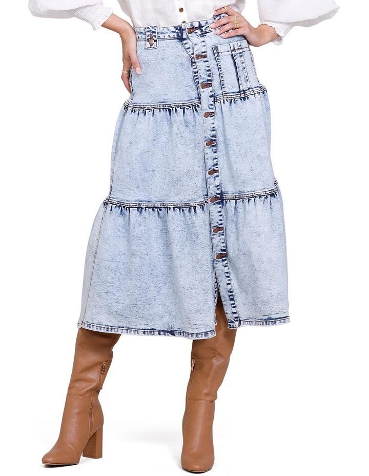 Ryder Denim Midi Skirt image 1