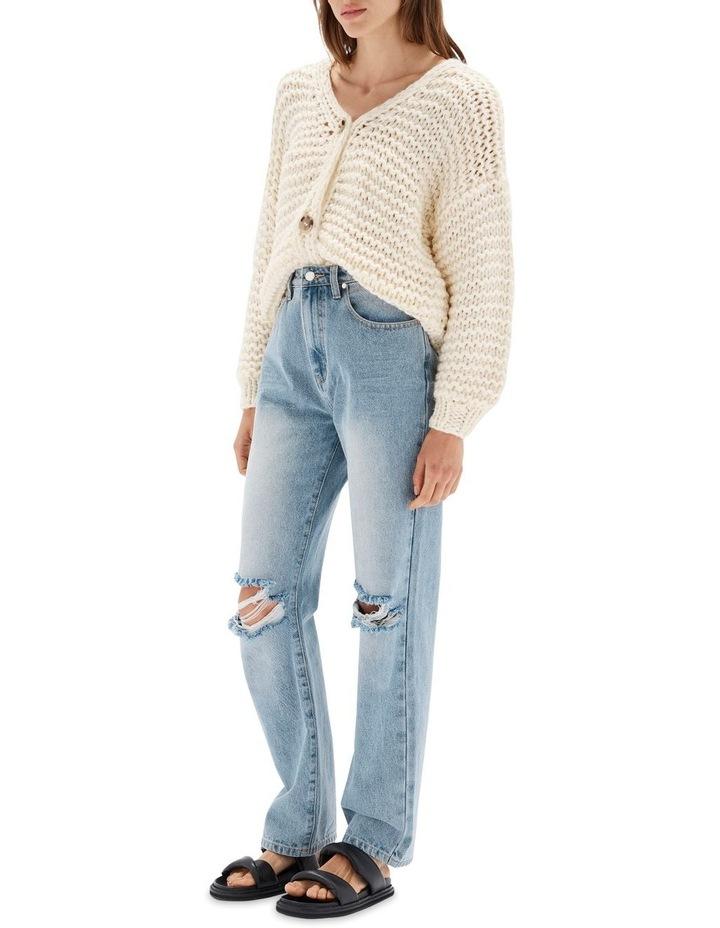 Muse Vintage Blue Cotton Distressed  Jean image 2