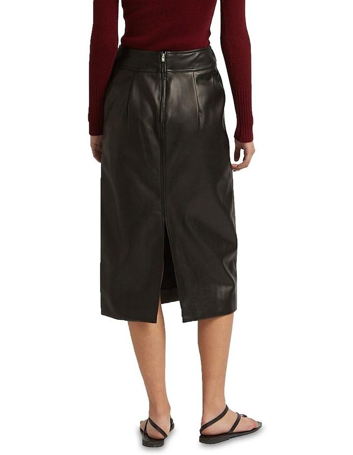 Aaia Vegan Leather Black Midi Skirt image 2